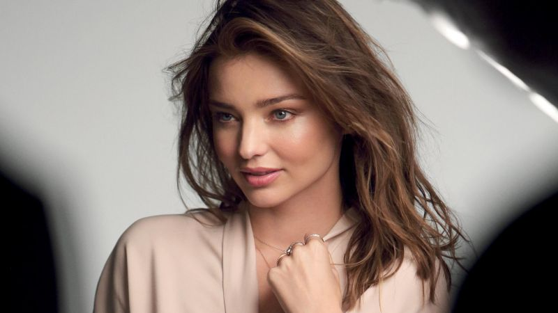 Miranda Kerr, Victoria's Secret Angel, model, brunette, red dress, fashion show, flowers, white dress (horizontal)