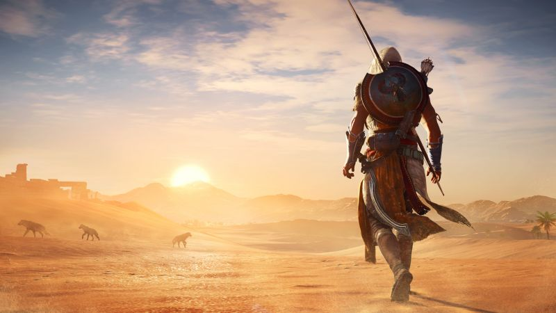 Assassin's Creed Origins, 4k, E3 2017, screenshot (horizontal)