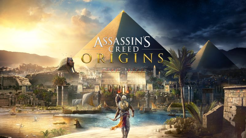 Assassin's Creed Origins, 4k, E3 2017, poster (horizontal)