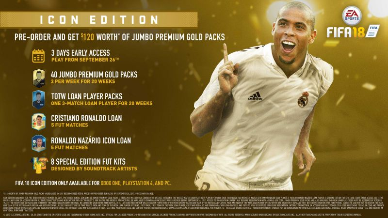 FIFA 18, 4k, icon edition, poster, E3 2017 (horizontal)