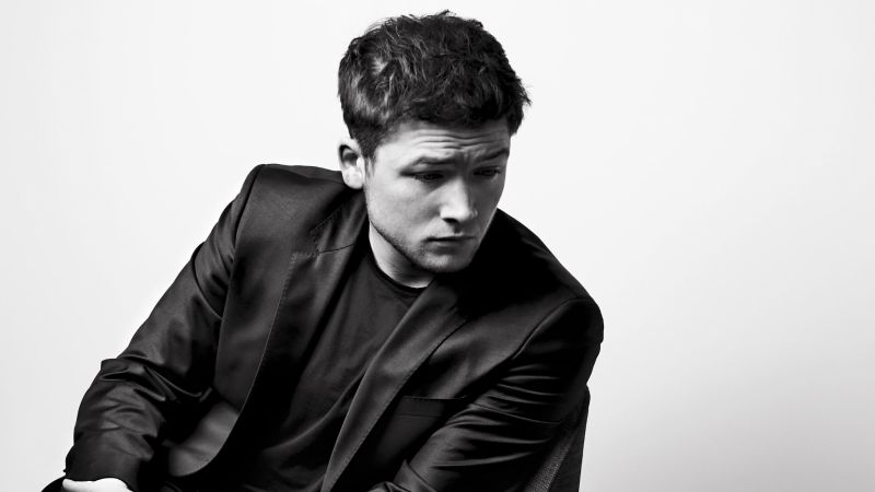 Taron Egerton, 4k, photo (horizontal)