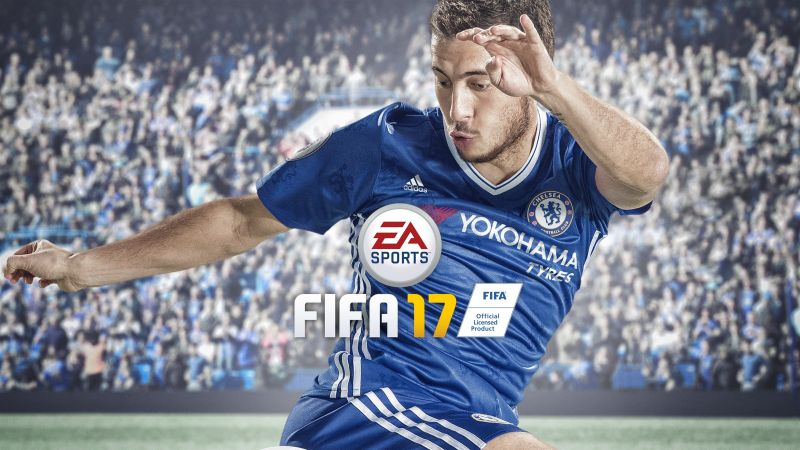 FIFA 17, 8k, Eden Hazard, screenshot, E3 2017 (horizontal)