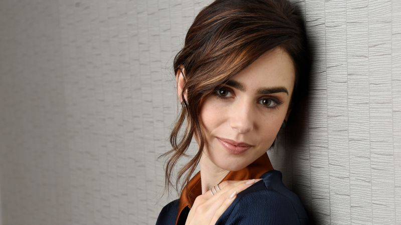 Lily Collins, photo, 4k (horizontal)