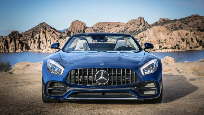 Mercedes-AMG GT C Roadster, 2018 Cars, 4k (horizontal)