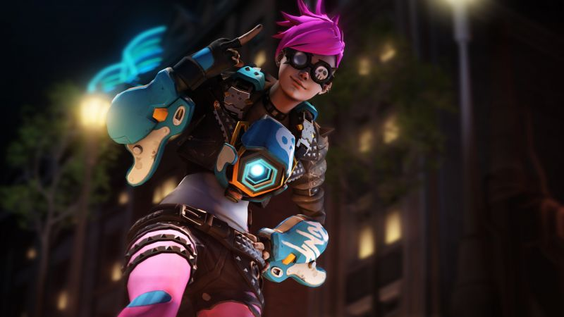 Overwatch, Punk Tracer, screenshot, 5k (horizontal)