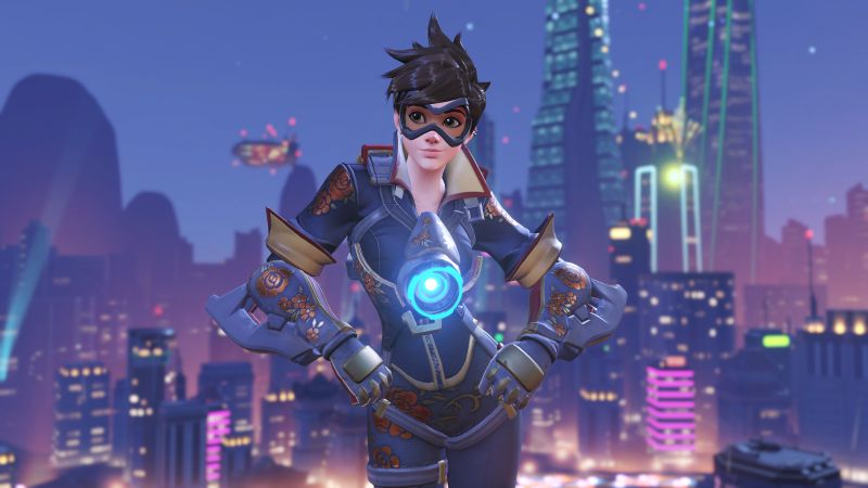 Overwatch, Tracer, poster, 10k (horizontal)