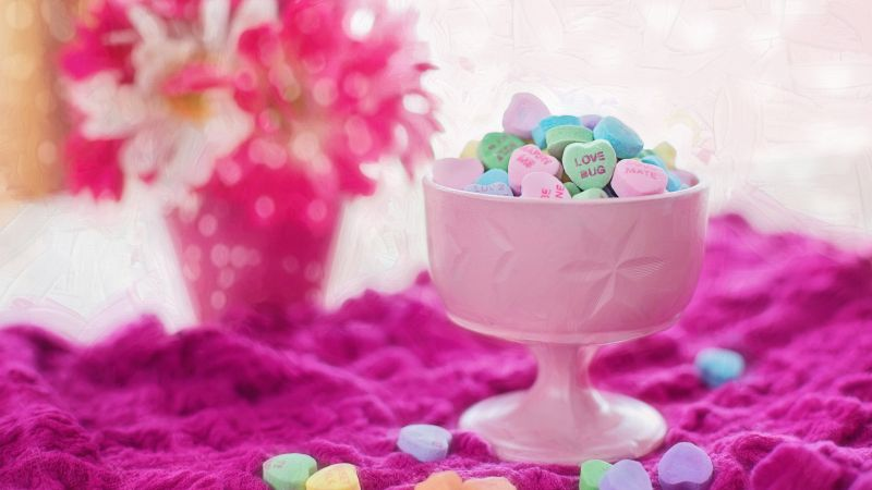 love image, 4k, candy (horizontal)