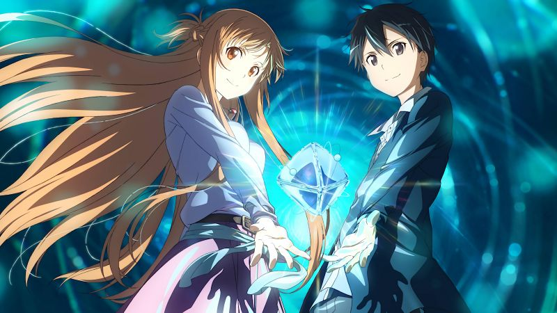 anime, anime couple, Sword Art Online Movie: Ordinal Scale, Yuuki Asuna, Kirigaya Kazuto, 5k (horizontal)