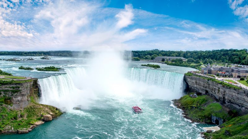 Niagara Falls, waterfall, New York, USA, 6k (horizontal)