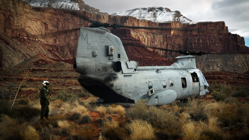 CH-47, Chinook, Boeing, transport helicopter, U.S. Army, pilot, Grand Canyon Village (horizontal)