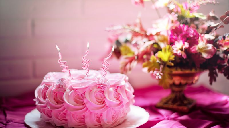 birthday cake, receipt, pink, 5k (horizontal)