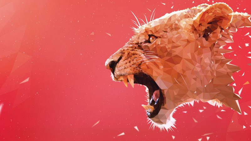lion, art, 5k (horizontal)