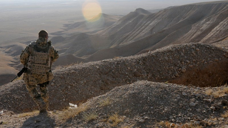 Afghanistan, soldier, Bundeswehr, weapon, war, desert, mountain (horizontal)