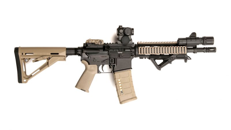 AR-15, M-16, red sight, U.S. Army, Marine Corps (horizontal)