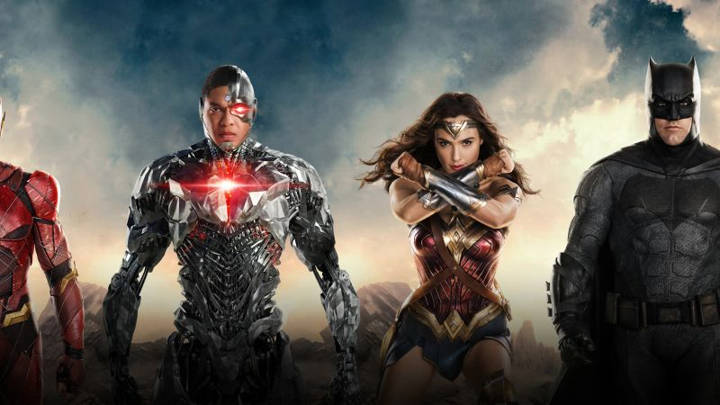 Justice League, Wonder Woman, Batman, The Flash, 6k (horizontal)
