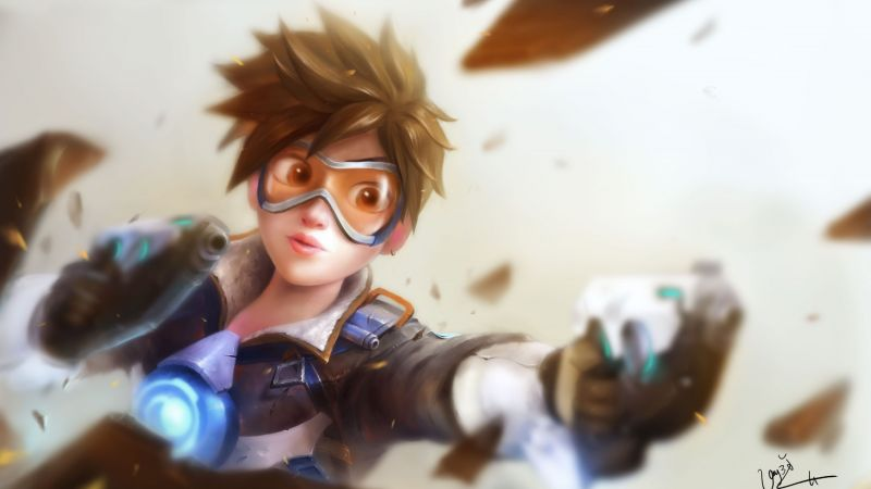 Overwatch, Tracer, poster (horizontal)