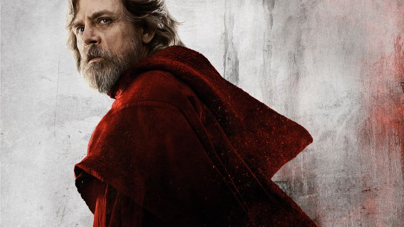 Star Wars: The Last Jedi, Mark Hamill, 8k (horizontal)