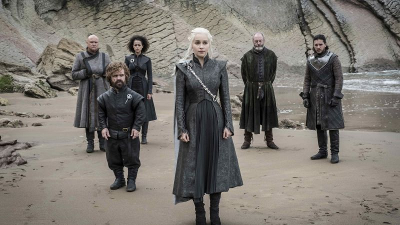 Game of Thrones Season 7, Tyrion Lannister, Peter Dinklage, Jon Snow, Daenerys Targaryen, Kit Harington, Emilia Clarke, TV Series, 4k (horizontal)