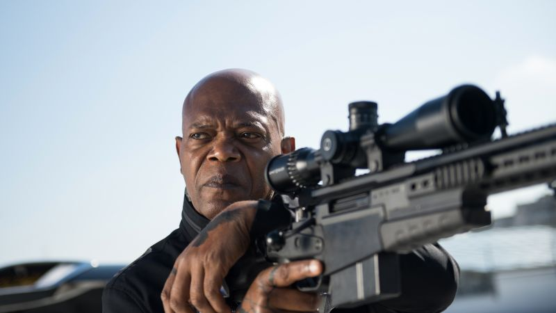 The Hitman's Bodyguard, Samuel L. Jackson, 4k (horizontal)