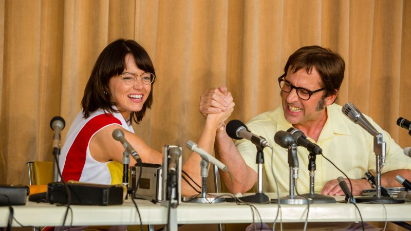 Battle of the Sexes, Emma Stone, Steve Carell, 5k (horizontal)