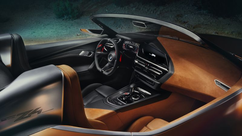 BMW Z4, Roadster, Cars 2018, interior, 5k (horizontal)