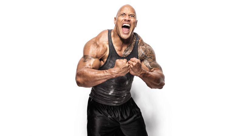 Dwayne Johnson, photo, 8k (horizontal)