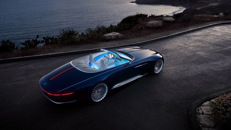 Mercedes-Maybach 6, electric cars, 4k (horizontal)