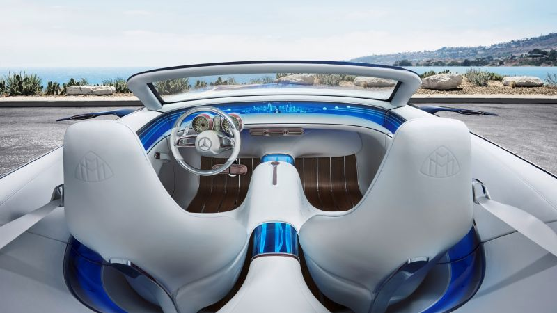 Mercedes-Maybach 6, electric cars, interior, 4k (horizontal)