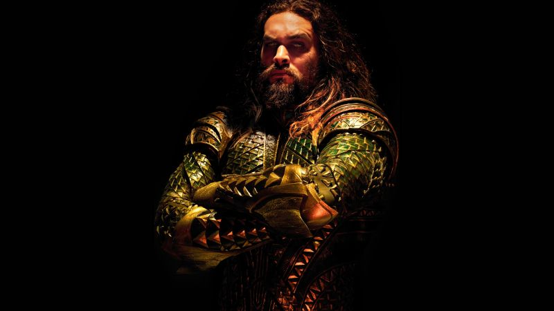 Justice League, Aquaman, Jason Momoa, 4k (horizontal)