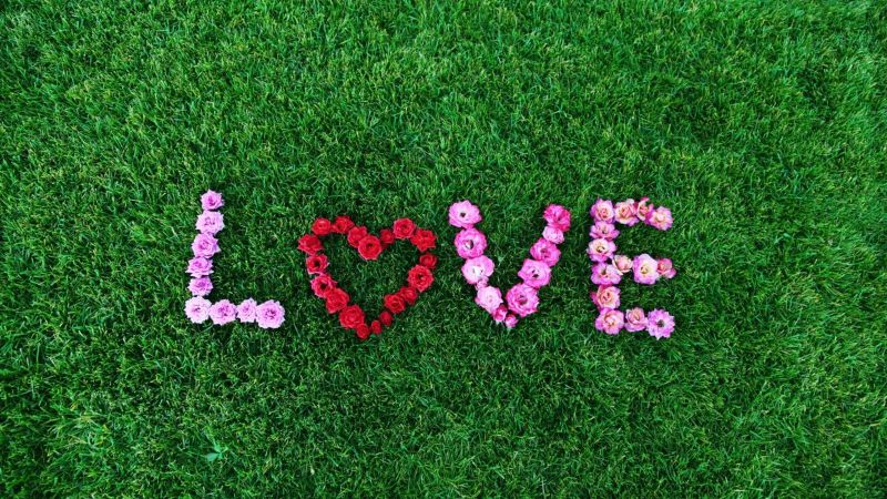 love image, heart, 4k (horizontal)