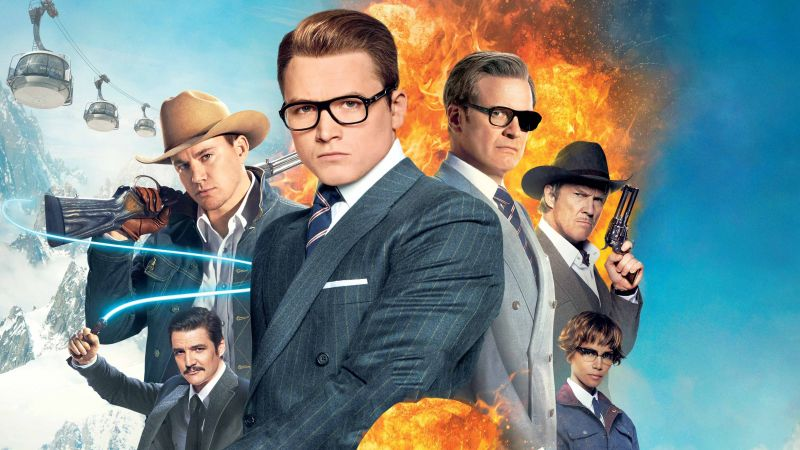 Kingsman: The Golden Circle, Colin Firth, Taron Egerton, 4k (horizontal)