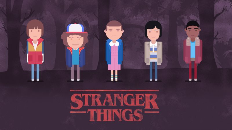 Stranger Things, season 2, TV Series, art, poster, 4k (horizontal)