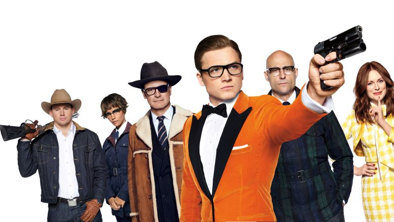 Kingsman: The Golden Circle, Colin Firth, Taron Egerton, 8k (horizontal)