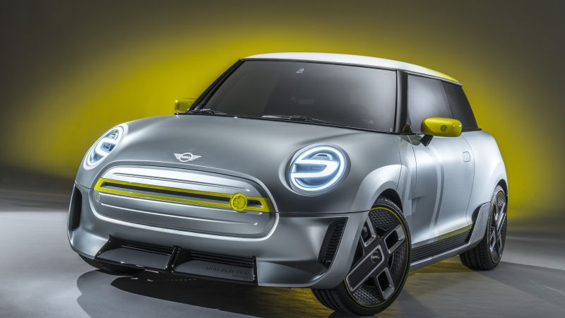 Mini Electric, electric car, 8k (horizontal)