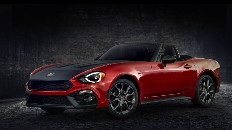Fiat 124 Spider Abarth, cars 2017, HD (horizontal)