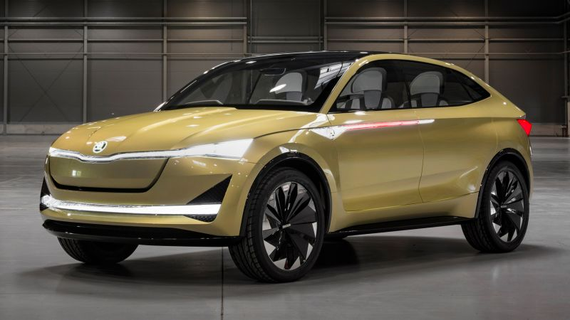 Skoda Vision E, electric car, HD (horizontal)