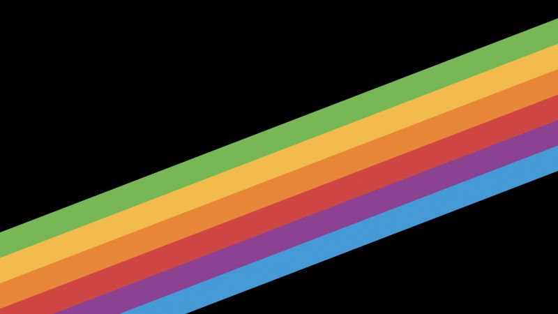 iPhone X wallpapers, iPhone 8, iOS11, rainbow, retina, 4k, HD, WWDC 2017 (horizontal)