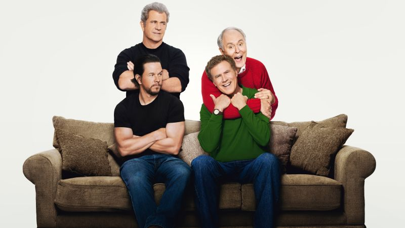 Daddy's Home 2, Mark Wahlberg, Will Ferrell, Mel Gibson, 8k (horizontal)