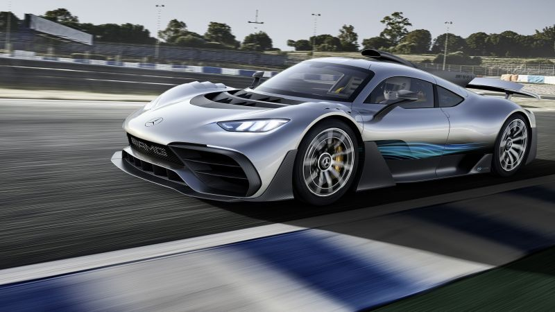 Mercedes-AMG Project One, hypercar, 4k (horizontal)