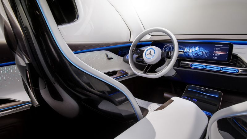 Mercedes-Benz Concept EQ, electric car, interior, 4k (horizontal)