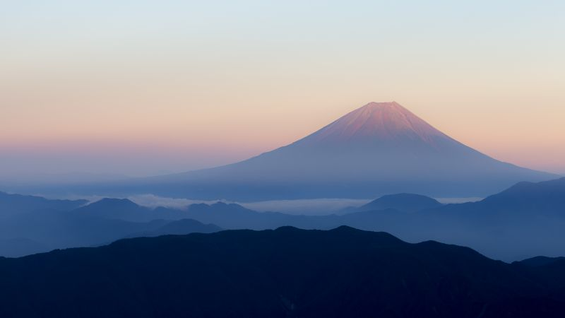 volcano, Fuji, Japan, mountains, 4k (horizontal)