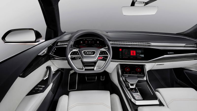Audi Q8, 2018 Cars, interior, 4k (horizontal)