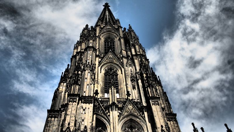 Cologne Cathedral, Germany, Cologne, Europe, sky, 4k (horizontal)