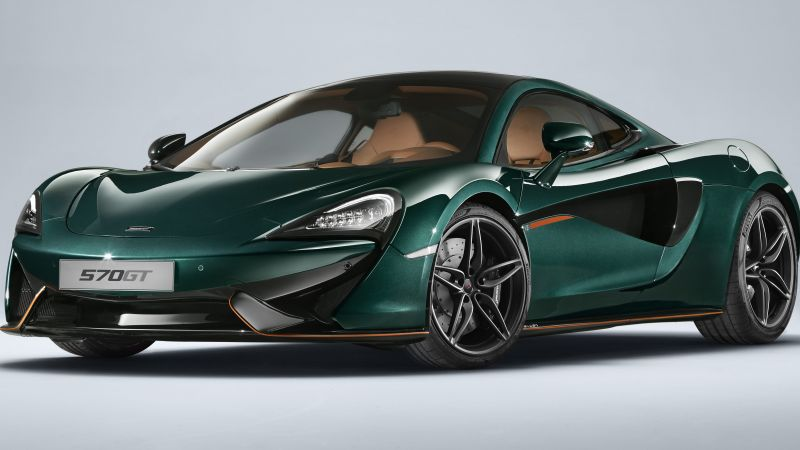 McLaren 570GT, XP Green, cars 2017, 4k (horizontal)