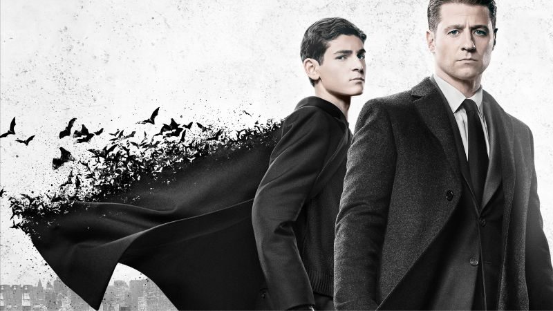 Gotham Season 4, Ben McKenzie, David Mazouz, TV Series, 5k (horizontal)