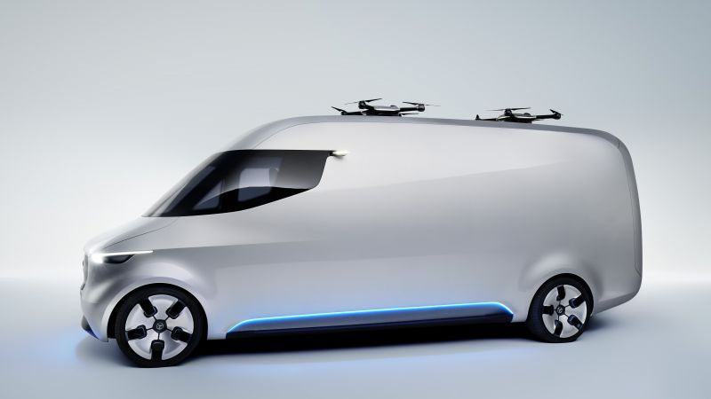 Mercedes-Benz Sprinter Vision Van, electric car, 5k (horizontal)