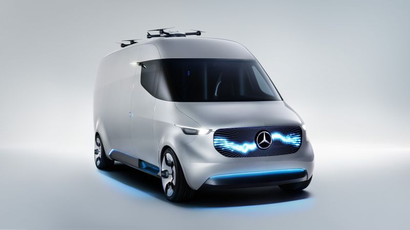 Mercedes-Benz Sprinter Vision Van, electric car, 8k (horizontal)