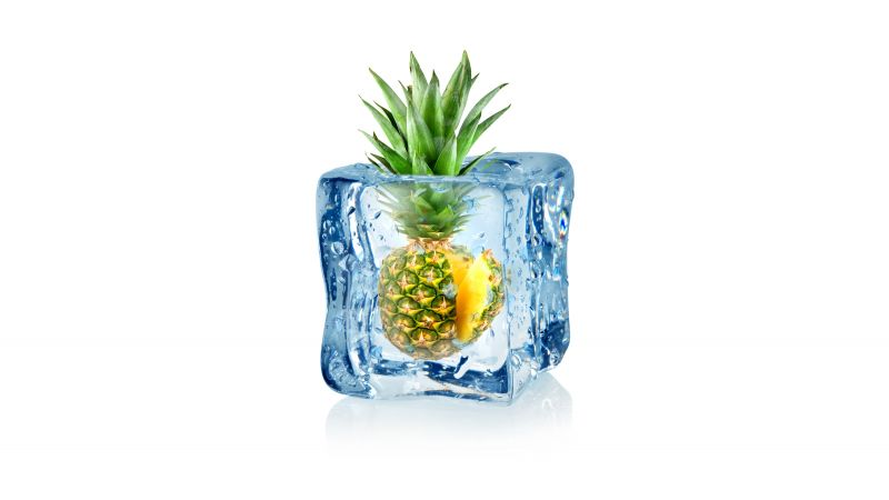 pineapple, fruit, ice, 5k (horizontal)