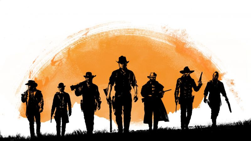 Red Dead Redemption 2, poster, 5k (horizontal)