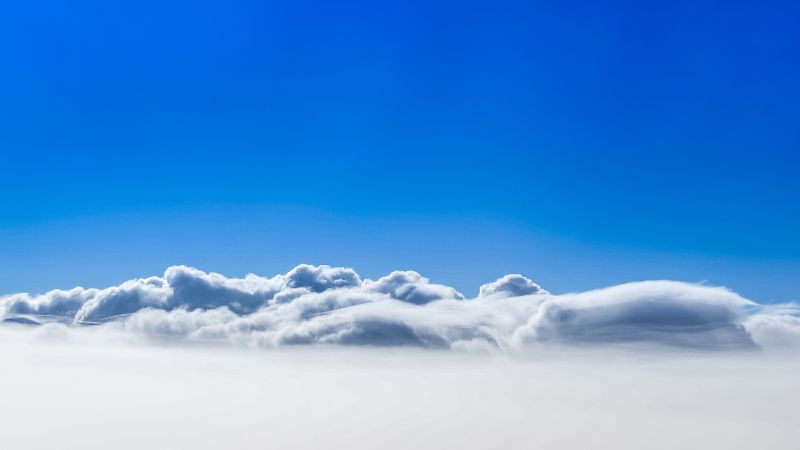 clouds, sky, 4k (horizontal)